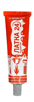 Отличия упаковки и тюбиков средства «Жидкая Латка» от подделки «ЛАТКА24»